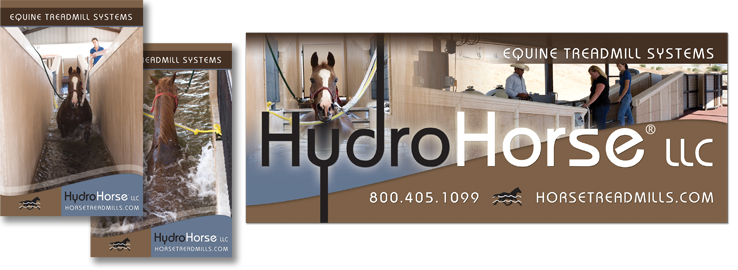 Custom Designed Equine Originals Advertising Posters and Banners - Hydro Horse Equine Treadmill Systems